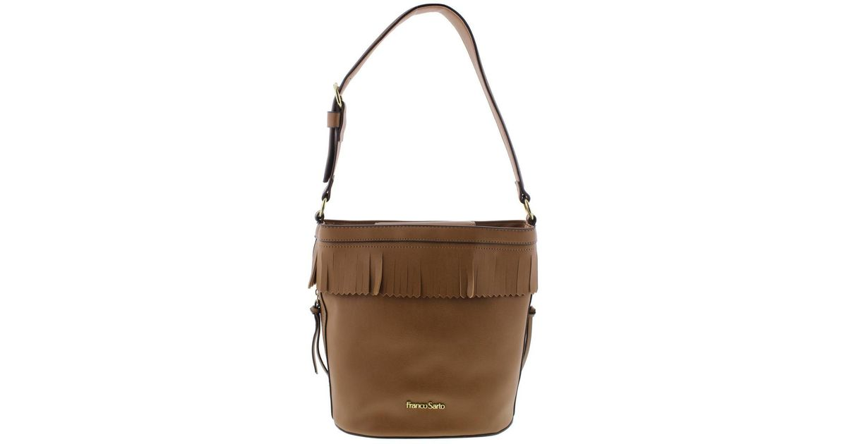 4572426a18c9 Lyst - Franco Sarto Womens Sarah Faux Leather Hobo Bucket Handbag in Brown