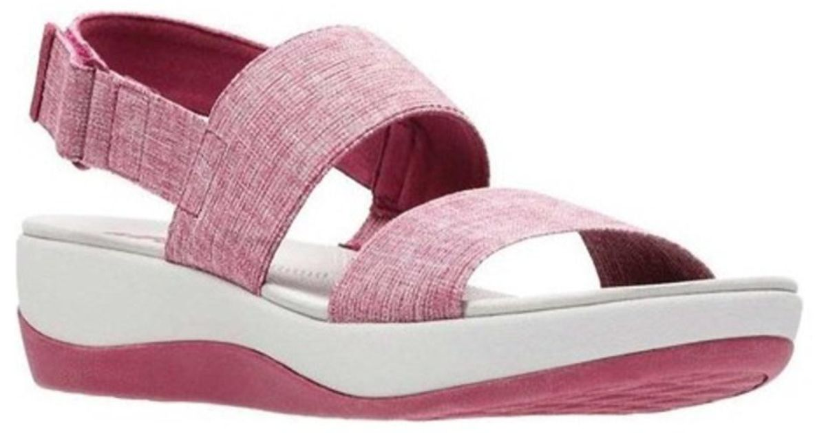 4b44cd32e58640 Lyst - Clarks Women s Arla Jacory Slingback Sandal in Pink