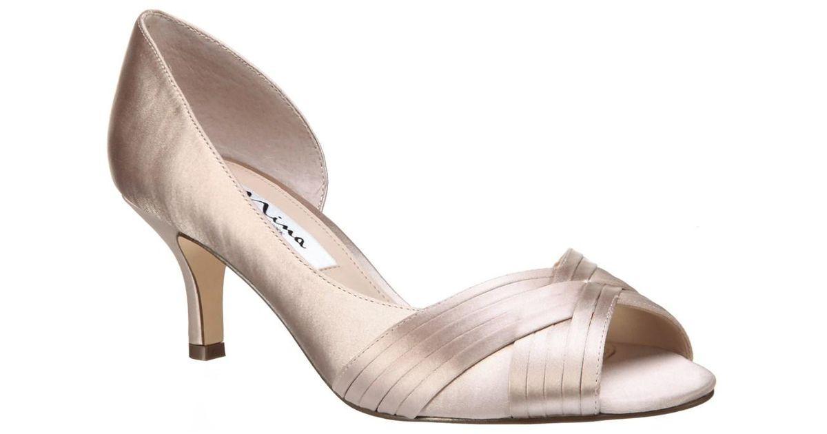 Contesa Satin d'Orsay Peep-Toe Pumps YY2Pf0cv5w