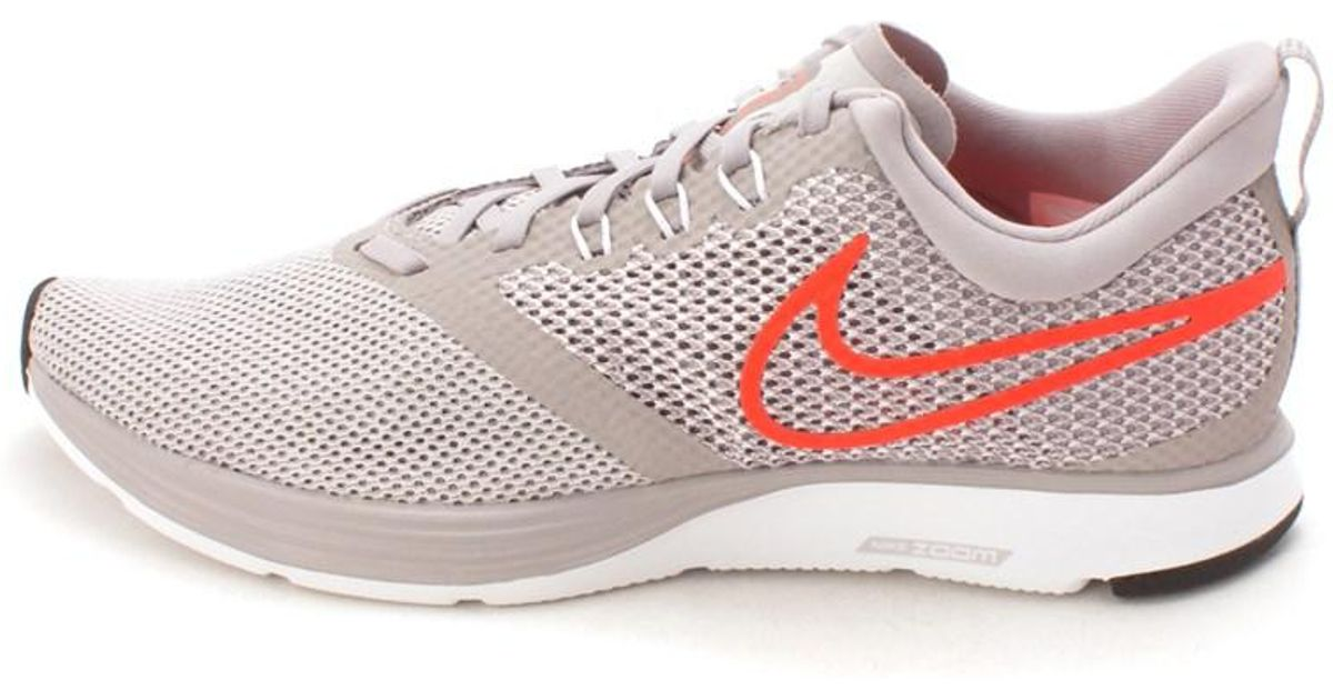 size 40 65a24 c364e nike-grey-Mens-Zoom-Strike-Fabric-Low-Top-Lace-Up-Running-Sneaker.jpeg
