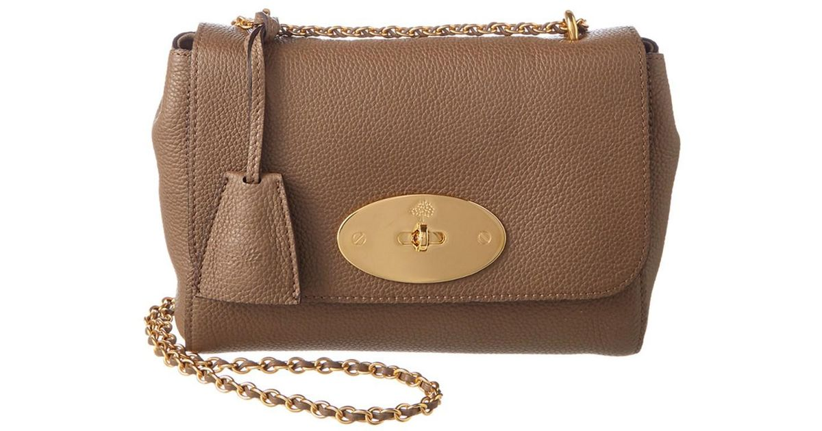 1de71a35d7 ... where can i buy lyst mulberry lily small classic grain leather shoulder  bag in brown b9c42