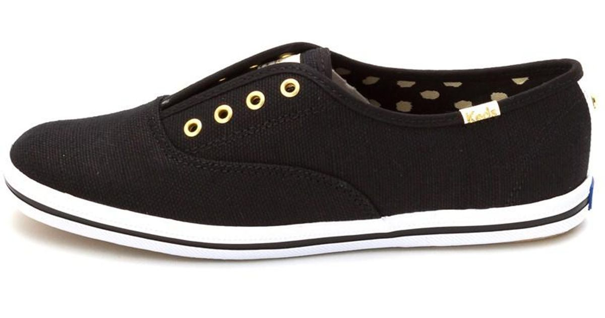 5563849e8ad2 Lyst - Keds Womens Champion Kate Spade Laceless Low Top Slip On in Black
