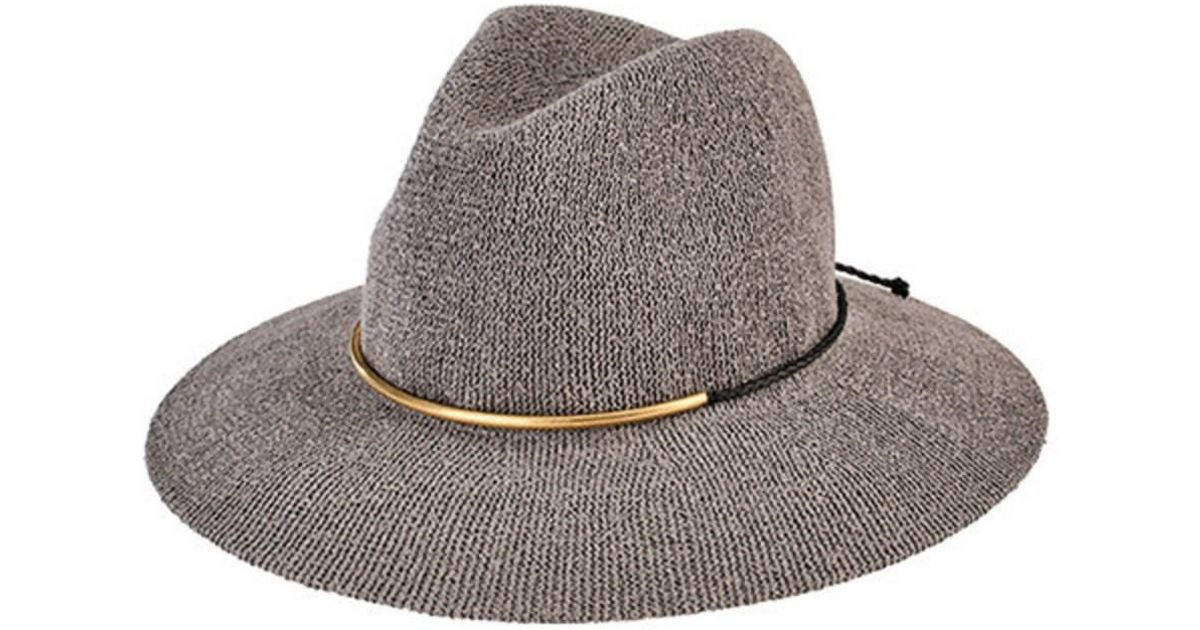 Lyst - San Diego Hat Company Women s Knit Fedora With Braided Faux Suede  Cth8077 in Gray acda9bb9c5eb