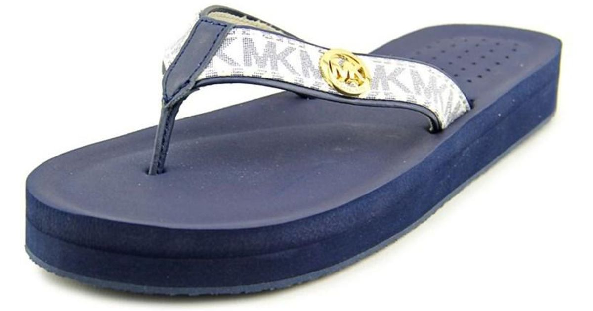 d1e55a35194f6a Lyst - Michael Michael Kors Gage Flip Flop Women Synthetic Blue Flip Flop  Sandal in Blue