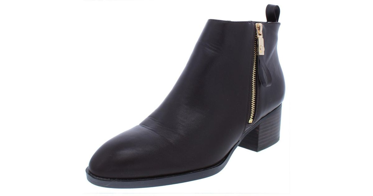 de42b2457a6a Lyst - Tommy Hilfiger Womens Reiz 2 Faux Leather Stacked Booties in Brown