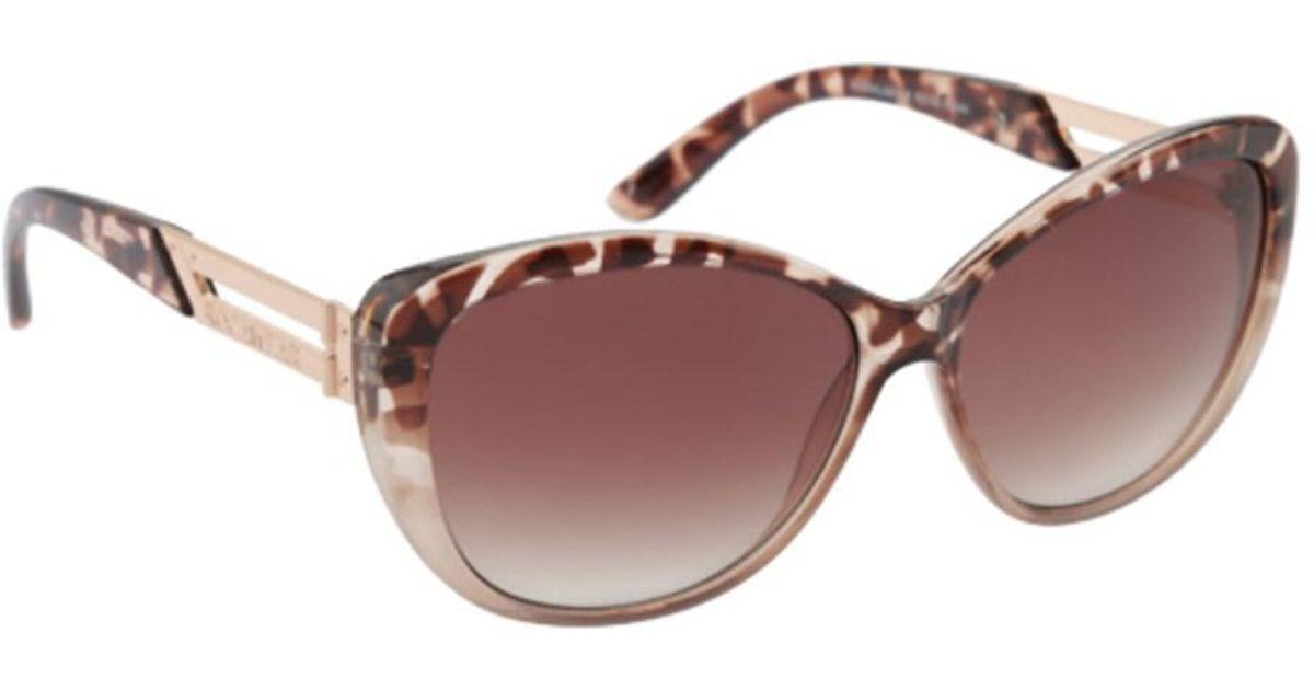 41ab8a83f2ae9 Lyst - Rocawear Women s R3190 Animal Print Cat Eye Sunglasses in Black