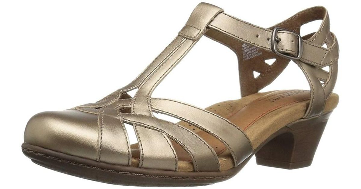 1767192fddc Lyst - Cobb Hill Womens Aubrey Leather Closed Toe Casual Strappy Sandals in  Gray