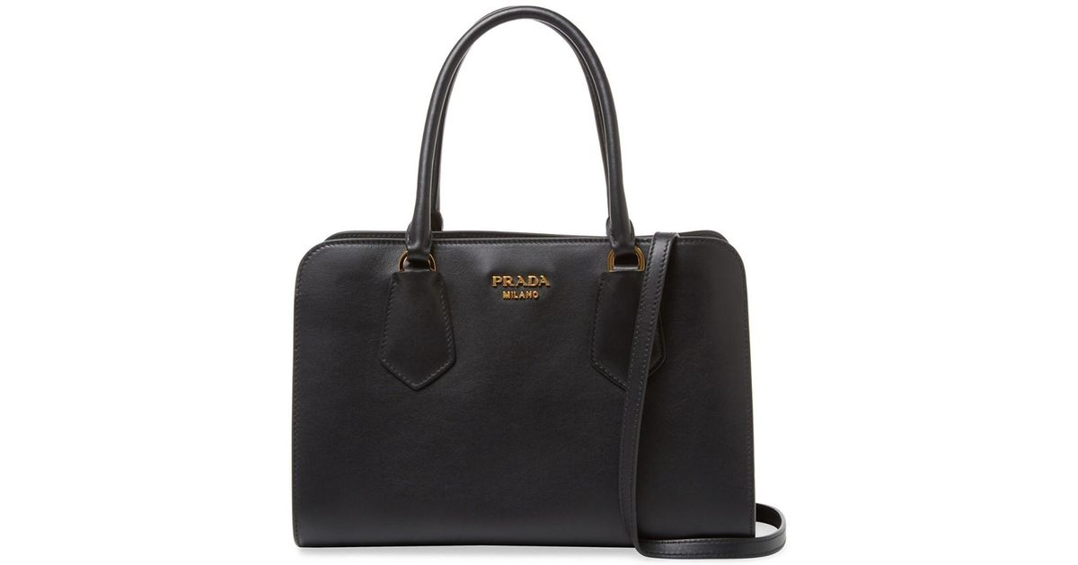 2ed214fef33f ... medium greco esplanade city leather tote 71bb0 65004 official store  lyst prada bicolor city leather tote in black 1bb9f d9cda ...