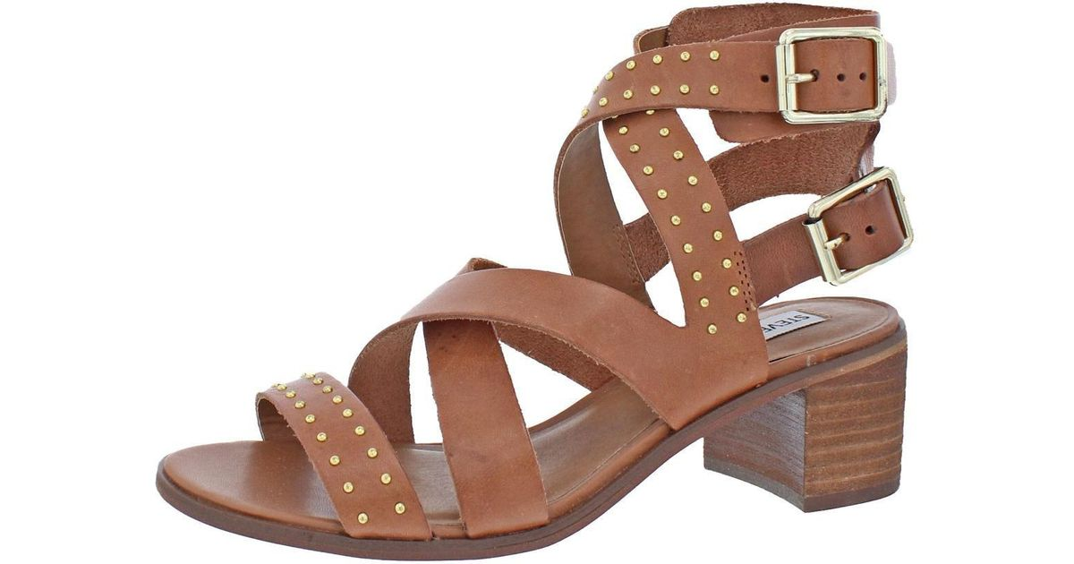 d197e1a232b Lyst - Steve Madden Womens Adrien Open Toe Strappy Dress Sandals in Brown