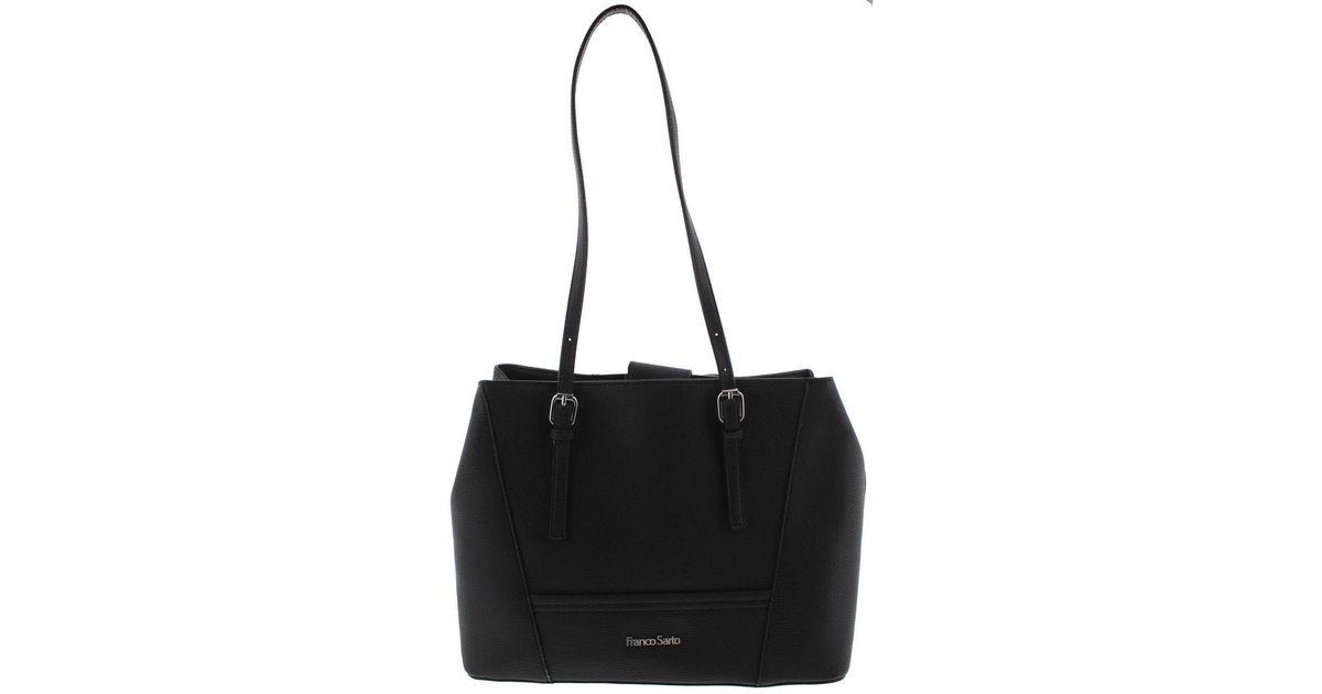 6284428905b Lyst - Franco Sarto Womens Charlie Faux Leather Signature Tote Handbag in  Black