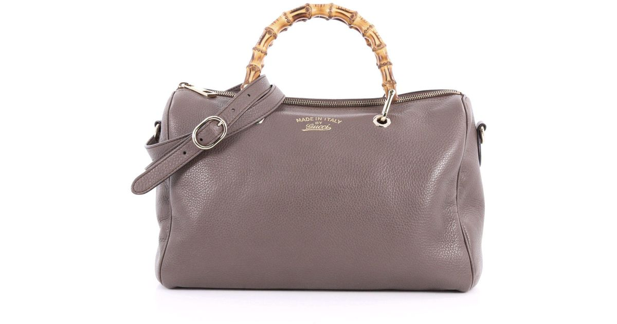 a76d4a07753 Lyst - Gucci Bamboo Shopper Boston Bag Leather Medium