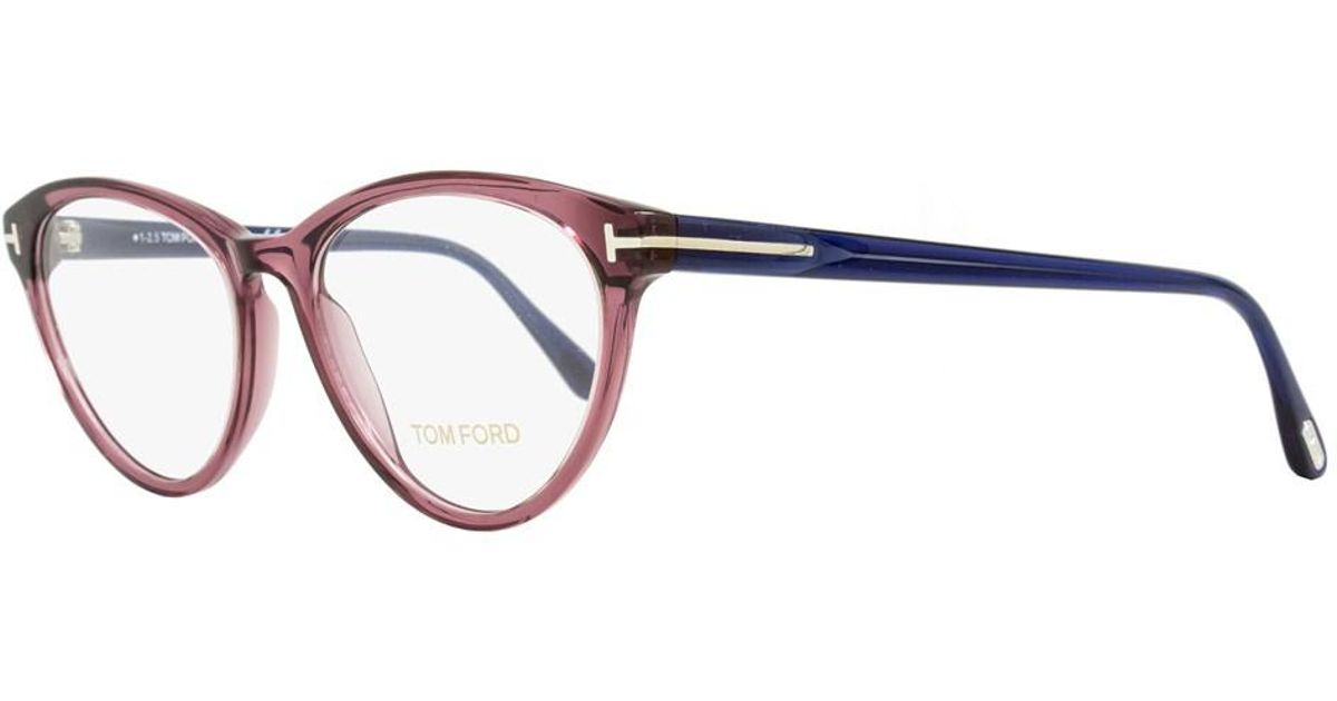 54c1bc471c Lyst - Tom Ford Oval Eyeglasses Tf5358 075 Size  52mm Wine Red blue Ft5358  in Blue