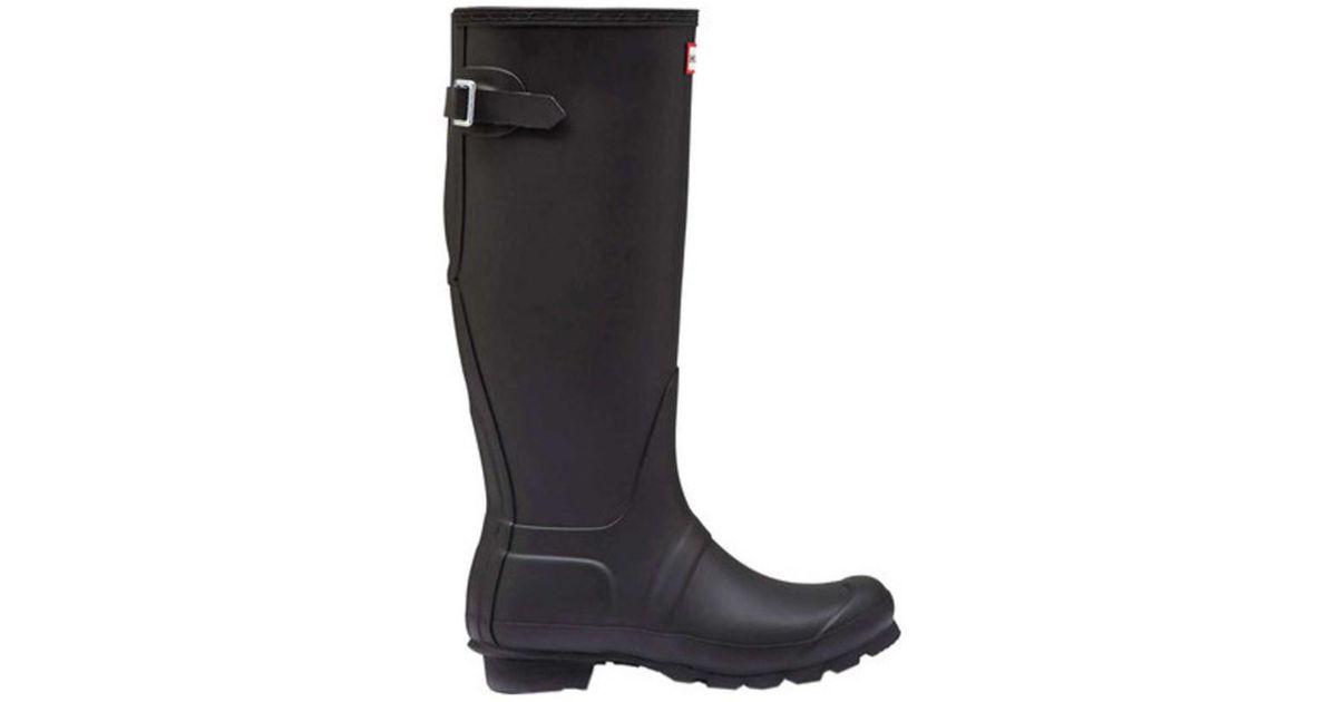 4ec0603c493ae Lyst - Hunter Women s Original Back Adjustable Rain Boot Black Size 11 M in  Black