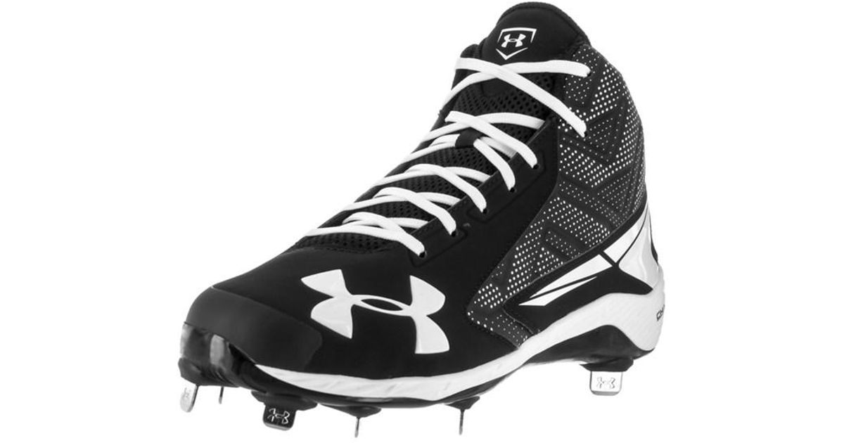 be256e1ff389 Lyst - Under Armour Men's Ua Yard Mid St Baseball Cleat in Black for Men