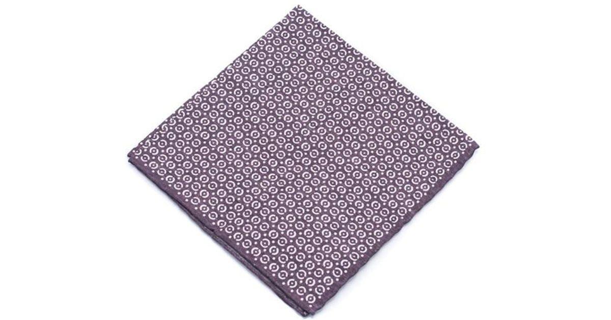 Mens Striped Silk Pocket Square Brunello Cucinelli RBT93Pdnl