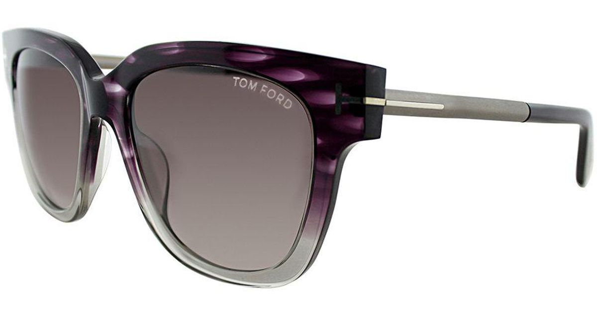 c63cdf0233a0 Lyst - Tom Ford Tracy Tf 436f 83t Violet Melange Square Sunglasses