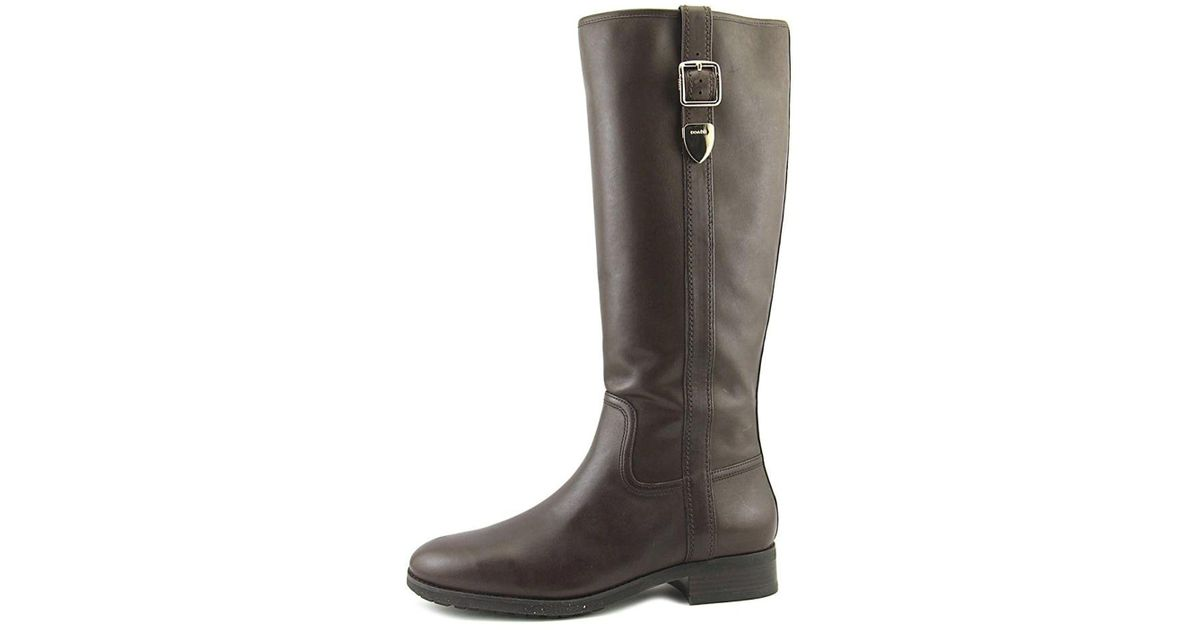 c90c5efe7ef4 Lyst - Coach Womens Easton Closed Toe Knee High Fashion Boots in Brown