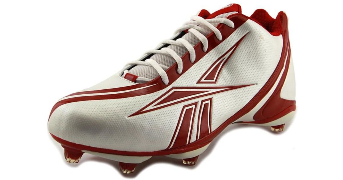 dee11f66bb4 Lyst - Reebok Nfl Burner Speed 5 8 Sd3 Round Toe Leather Cleats in White  for Men