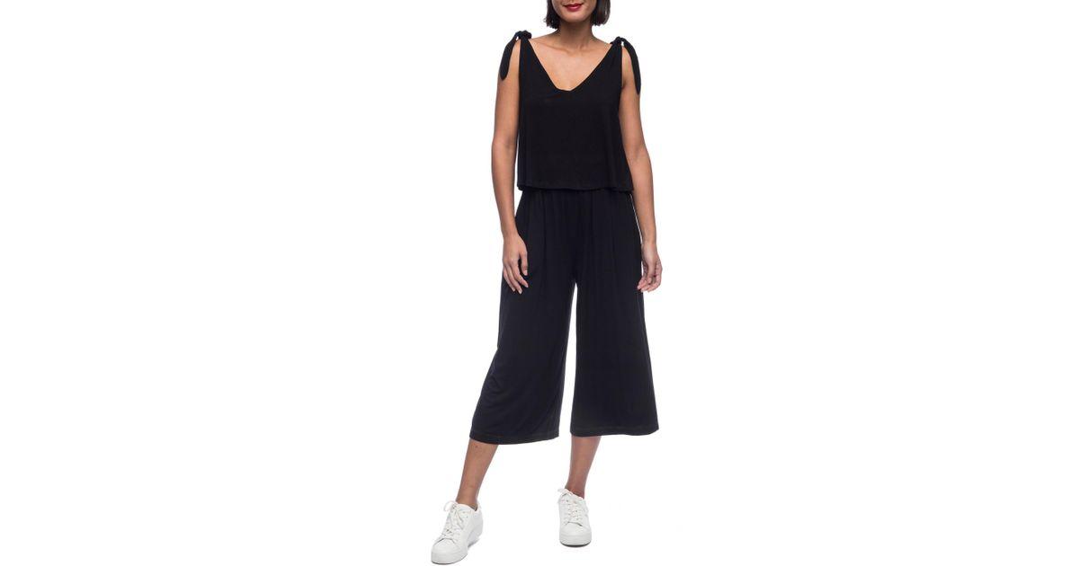 9acfdf8893121 Lyst - Bobeau Vicky Knit Jumpsuit in Black - Save 60%
