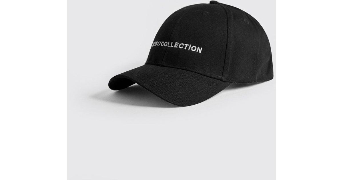 df819cebda4 Lyst - Boohoo 2k19 Man Collection Embroidered Cap in Black for Men