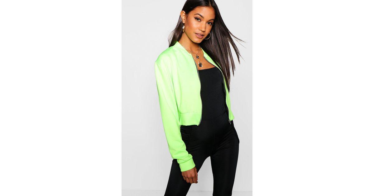 d5aa089248145 boohoo-designer-neon-lime-Crop-Bomber-Jacket.jpeg