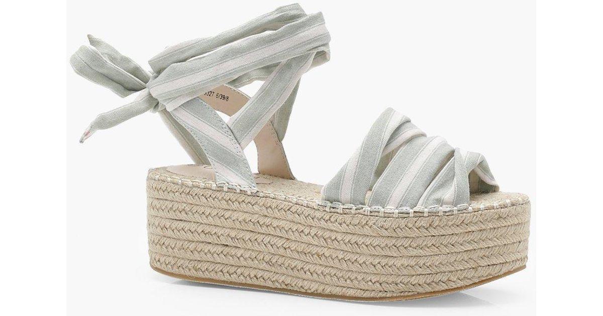 Emma Flatform Ankle Wrap Espadrilles CdLML