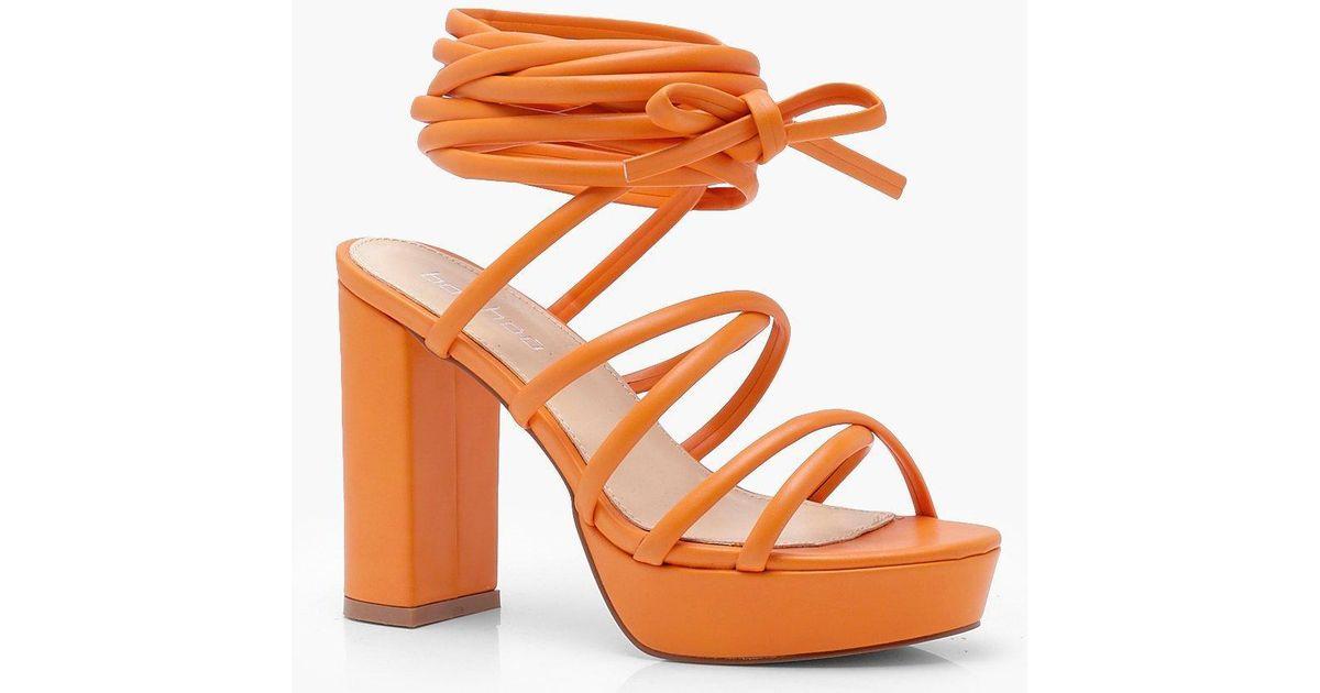 Evie Cross Strap Tie Up Platform Heels dxQVqkT9