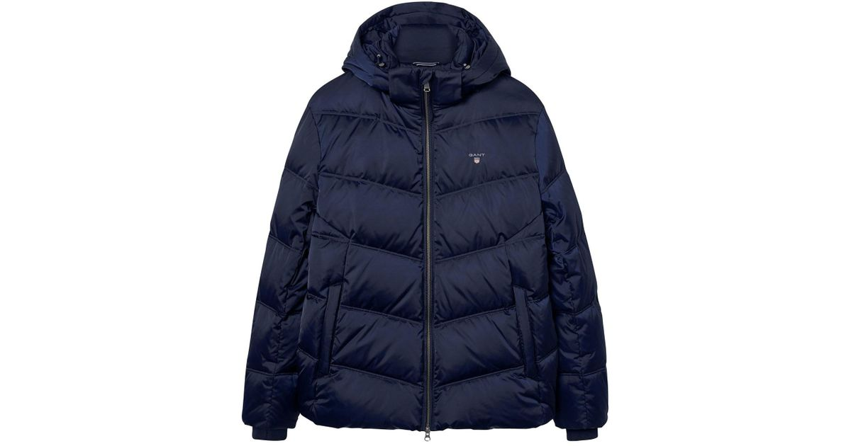 71eaadb4965 GANT O2. The Alta Down Jacket in Blue for Men - Lyst