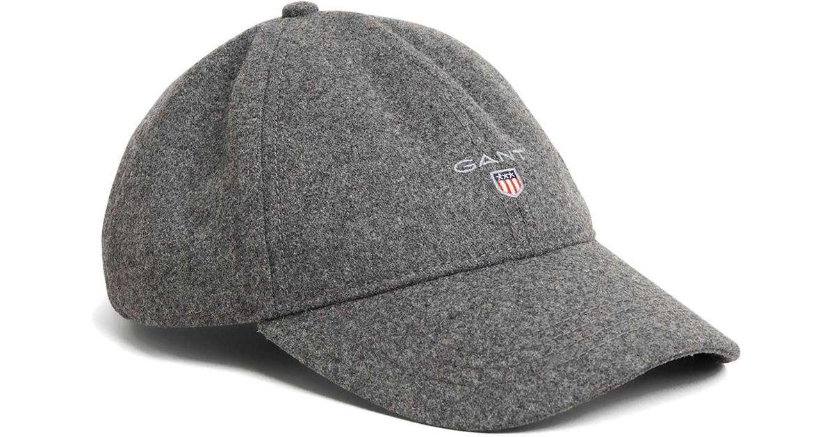 455a069e GANT O2. Melton Cap in Gray for Men - Lyst