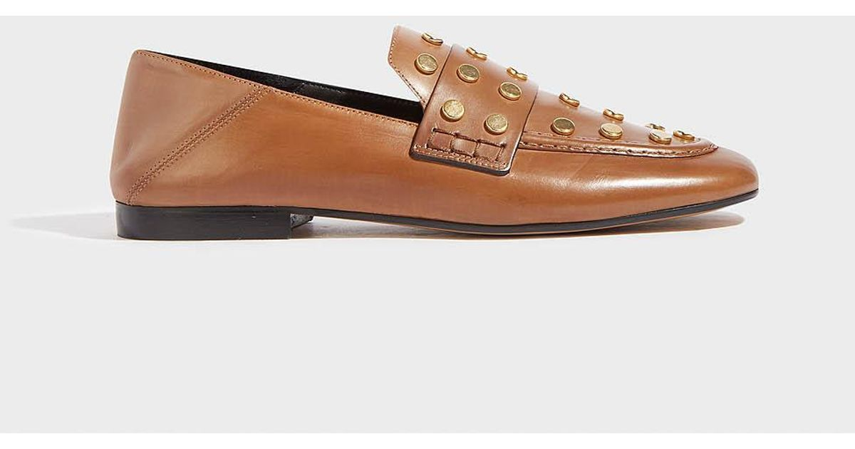 a49003c1dfc Isabel Marant Feenie Studded Leather Loafers - Lyst