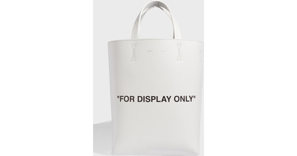 517834a8d Off-White c/o Virgil Abloh Virgil Was Not Here Tote, Size Os, Women, White  - Lyst