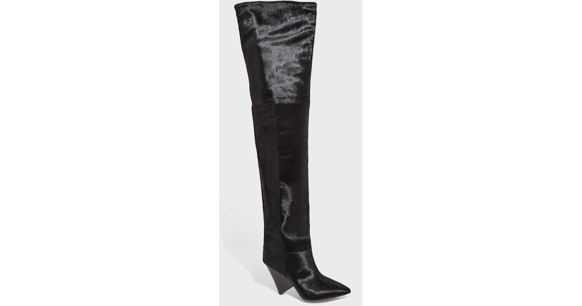 637dc5c8c37 Lyst - Isabel Marant Lostynn Knee Length Boots in Black