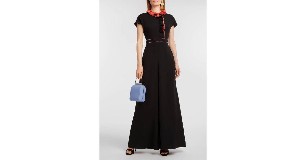 Satin-trimmed Silk Jumpsuit - Black Roksanda Ilincic Discount Best Store To Get etqEI