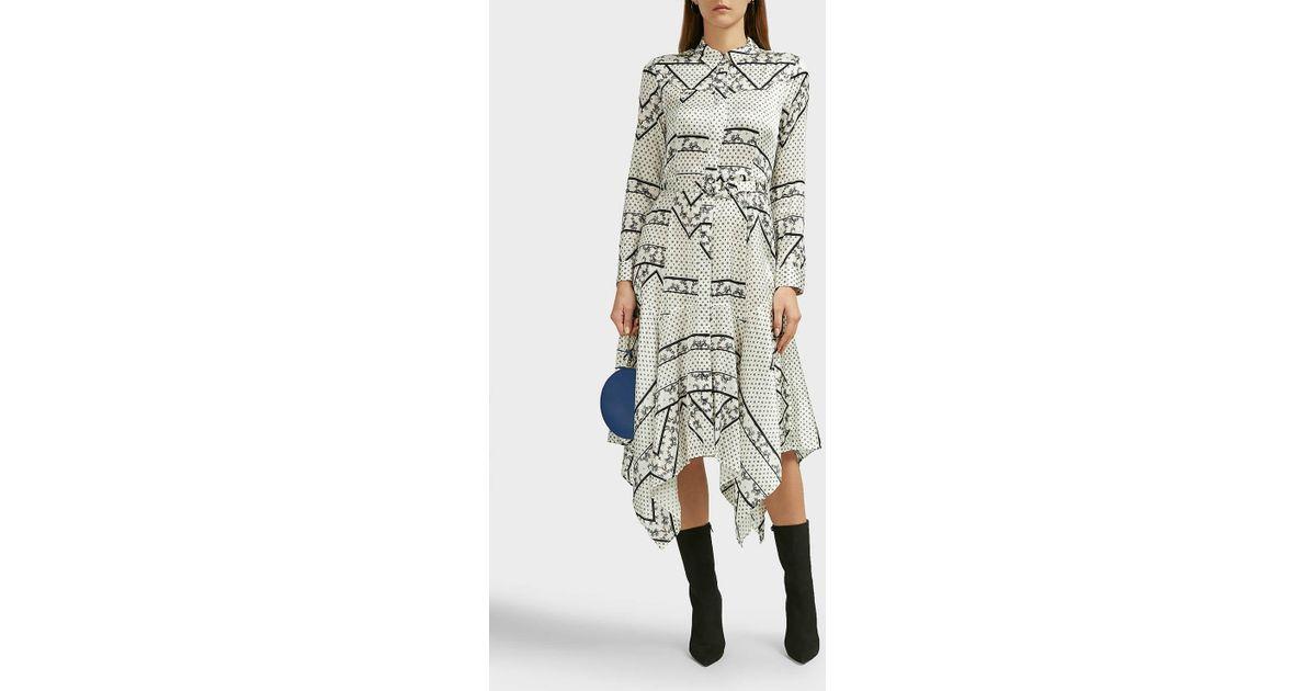 ba69baa380a3 Ganni Blakeley Silk-satin Shirt Dress - Lyst