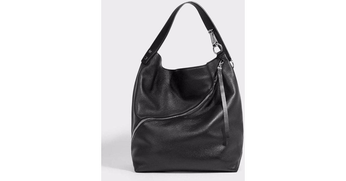 Proenza Schouler Hobo Large Textured-leather Tote in Black - Lyst dd0a759d60bc5