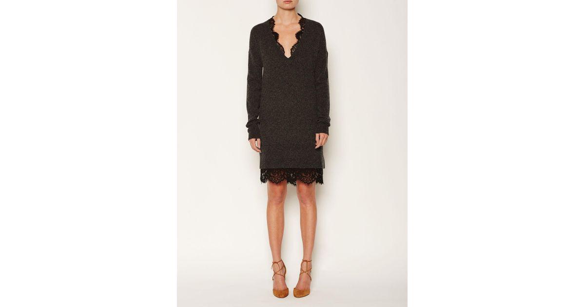 Lyst - Brochu Walker The Lace Looker Dress in Black bf94e5876