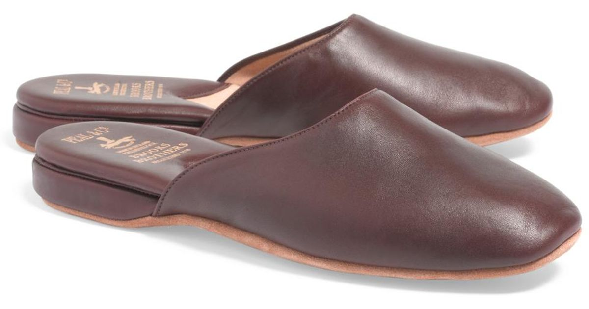27538872d54 Lyst - Brooks Brothers Nappa Backless Slip-on Slippers for Men