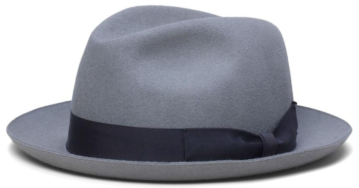 1913977c90ed9 Brooks Brothers Tonal Ribbon Fedora in Gray for Men - Lyst