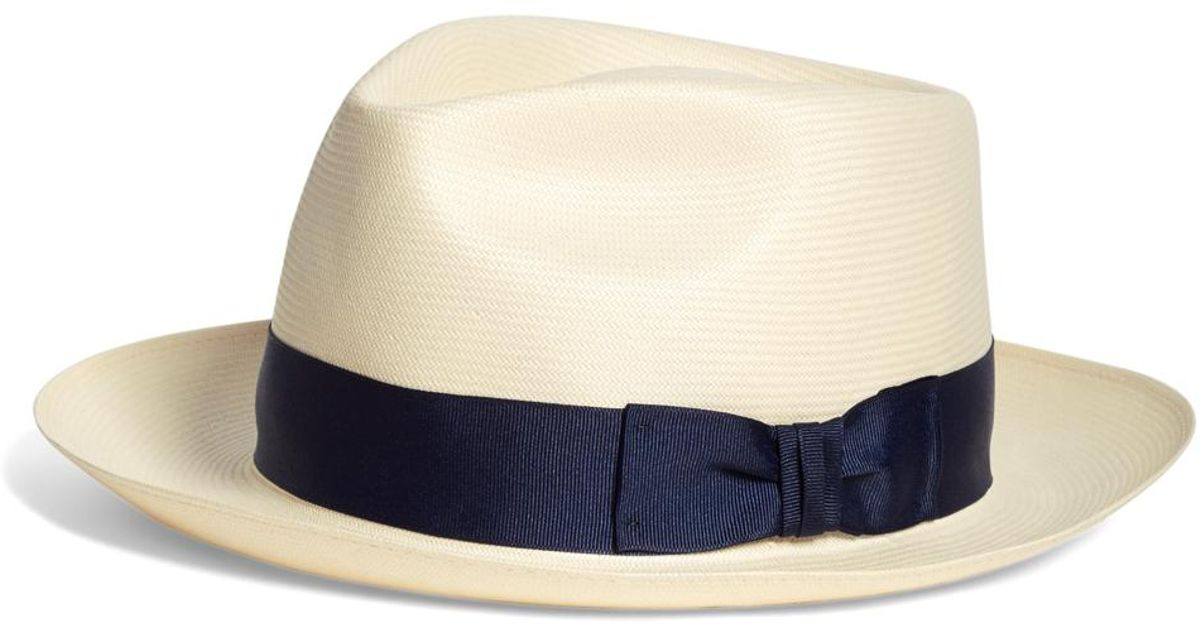 11ecd591c185d Lyst - Brooks Brothers Straw Fedora in Natural for Men