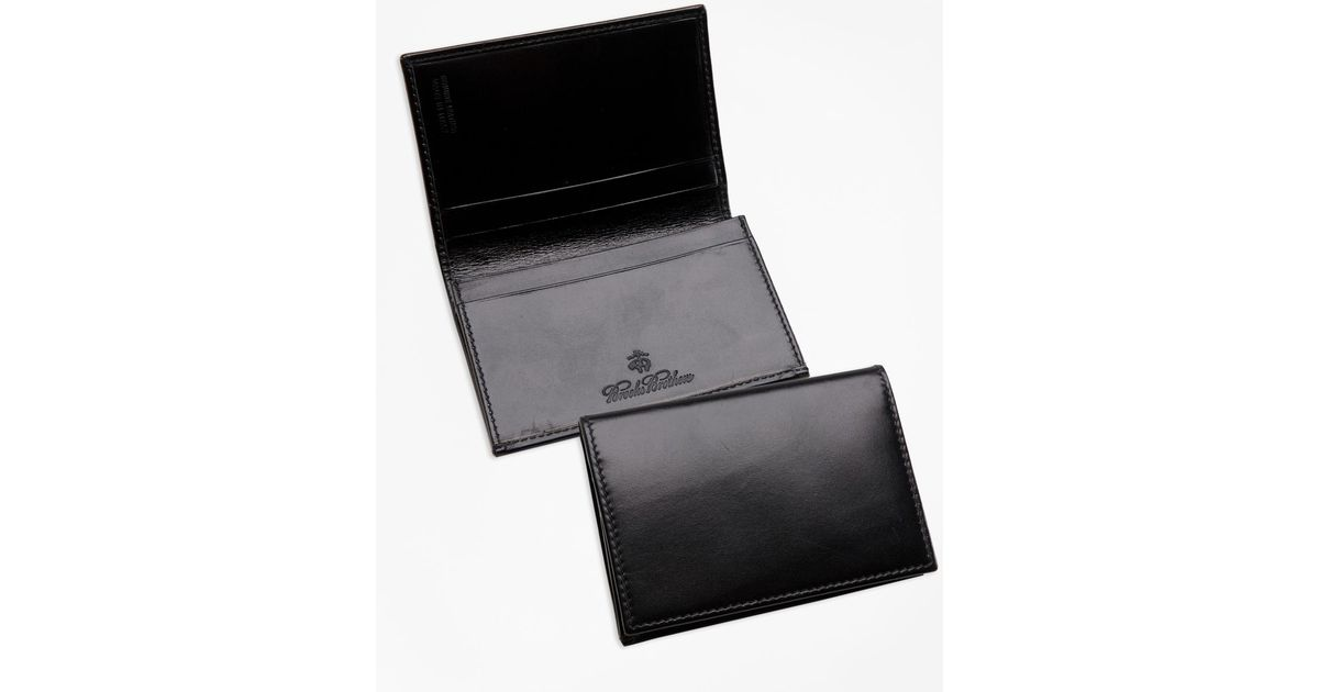 Lyst brooks brothers french calfskin business card case in black lyst brooks brothers french calfskin business card case in black for men reheart Images