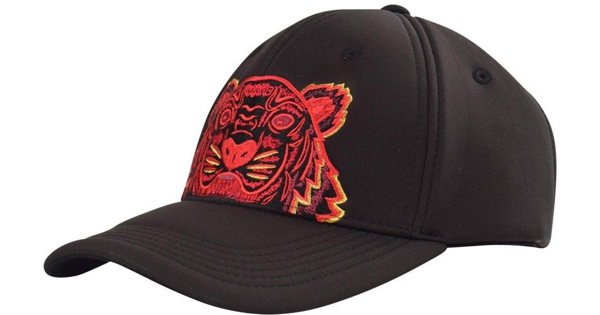 84b2cdc2 Lyst - KENZO Black/red Tiger Cap in Black for Men