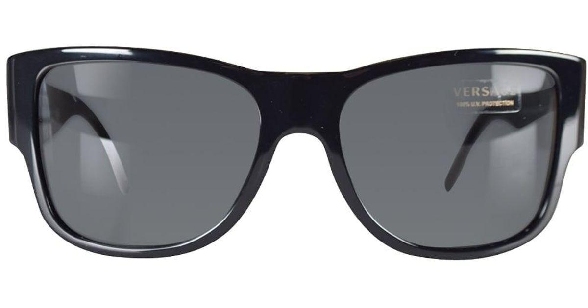 e0643f2a4f Versace Black Medusa Wayfarer Sunglasses for Men - Lyst