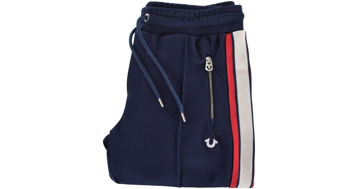 9dd0c24cd4 True Religion Navy Stripe Sweatpants in Blue for Men - Lyst
