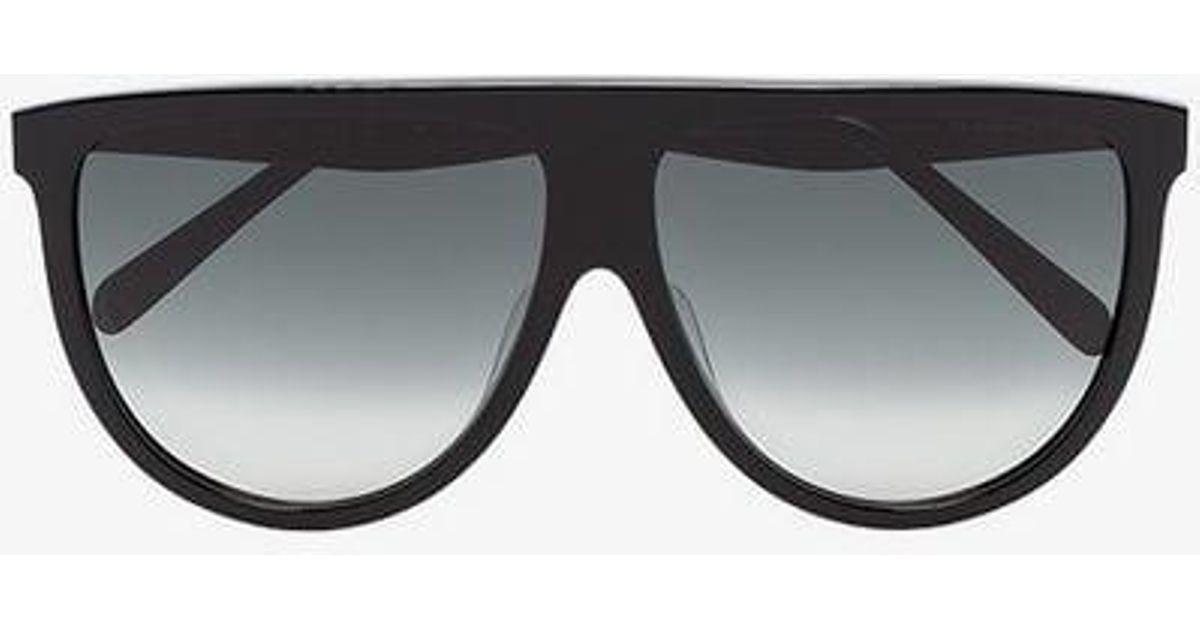 31b11edfbec0 Céline Black Classic Straight Top Sunglasses in Black - Lyst
