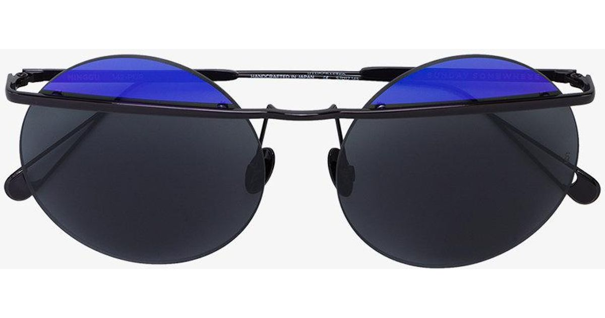 two-tone round Minggu sunglasses - Pink & Purple Sunday Somewhere Iy6R2u