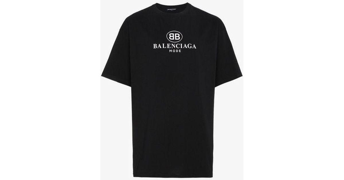 528a6f52290b Lyst - Balenciaga Black Logo Tee in Black for Men