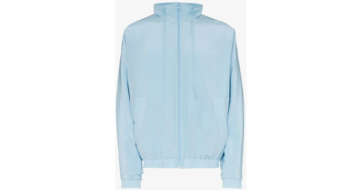 145e7c5b397 Jacquemus Zip Up Silk Track Jacket in Blue for Men - Lyst