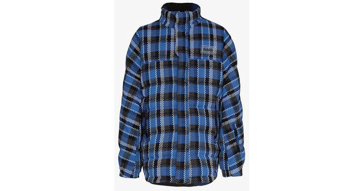 Martine Rose Mr Acho Reversible Puffer Jacket in Blue for Men - Lyst 68b79da7379
