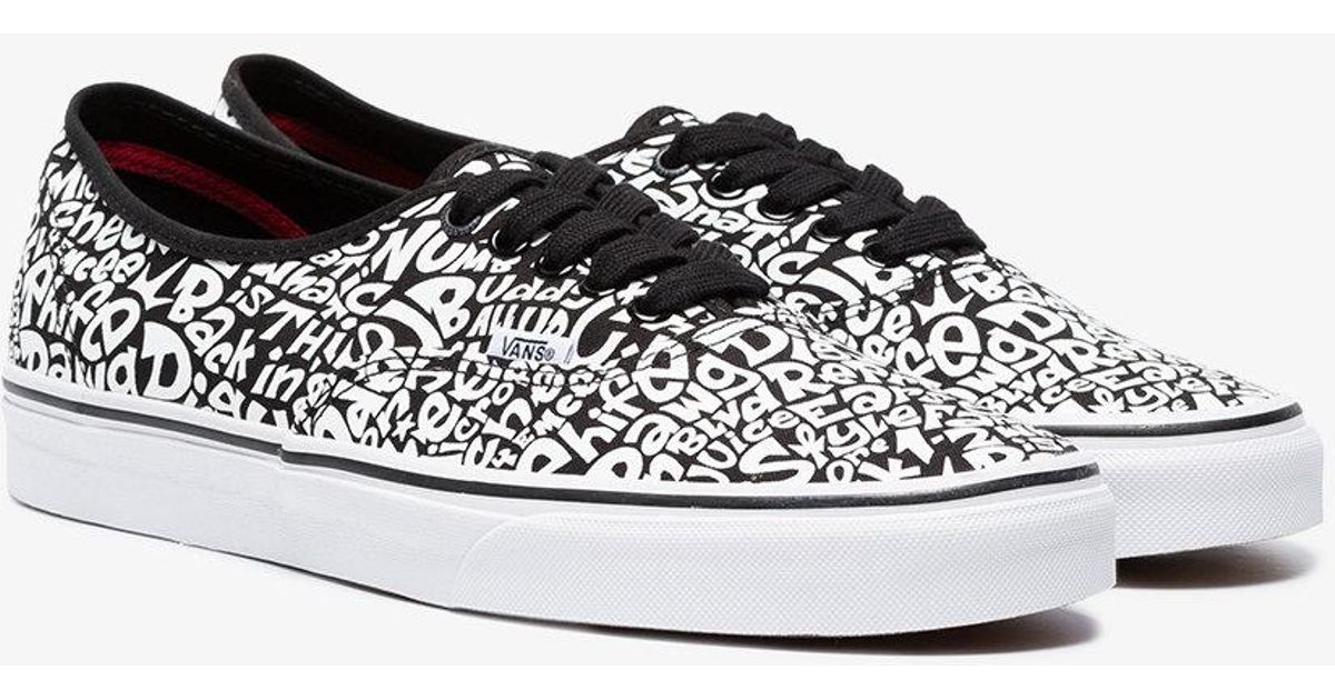 9f38c09ce0 Lyst - Vans Ua Authentic A Tribe Called Quest Print Sneakers in Black for  Men