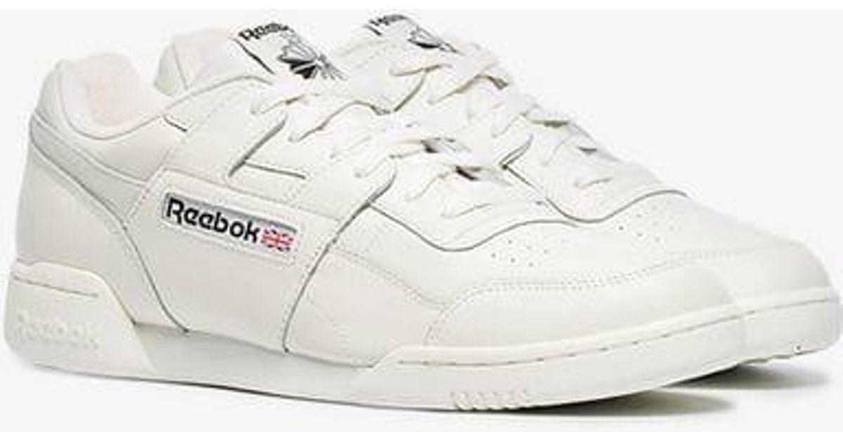 c32f2ecc6abd33 Reebok White Workout Plus Mu Leather Sneakers in White for Men - Lyst